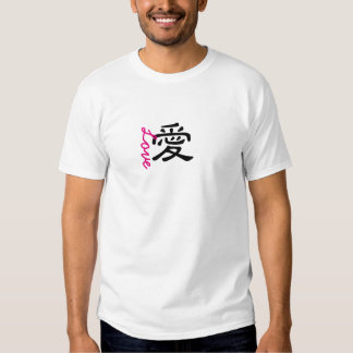 """Chinese character """"Love and believe"""" tshirt"""