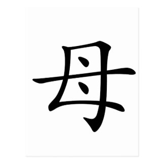 Chinese Character : mu, Meaning: mother Postcard