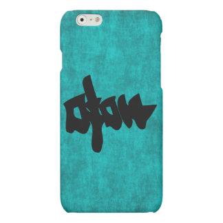 Chinese Character Painting for Happiness in Blue a Matte iPhone 6 Case