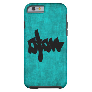 Chinese Character Painting for Happiness in Blue a Tough iPhone 6 Case