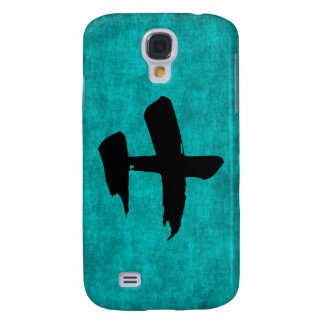 Chinese Character Painting for Warrior in Blue Galaxy S4 Cover