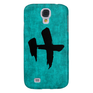Chinese Character Painting for Warrior in Blue Samsung Galaxy S4 Case