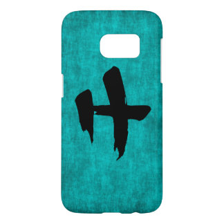 Chinese Character Painting for Warrior in Blue Samsung Galaxy S7 Case