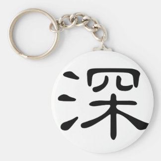Chinese Character : shen, Meaning: deep, profound Key Chain