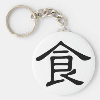 Chinese Character : shi, Meaning: food, eat Keychain