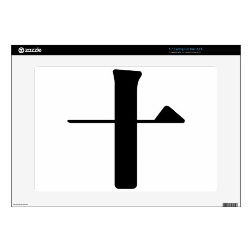 Chinese Character : shi, Meaning: ten number Laptop Skin