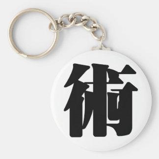 Chinese Character : shu, Meaning: art, skill, tech Keychain