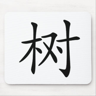 Chinese Character : shu, Meaning: tree, plant, Mousepad