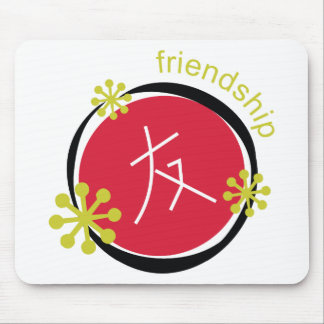 Chinese Character Symbol Friendship Gift Mouse Pad