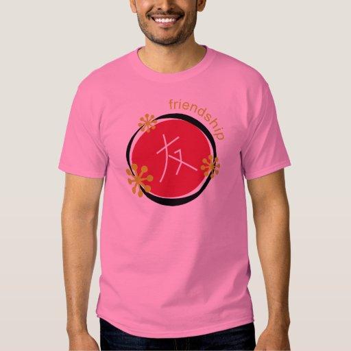 Chinese Character Symbol Friendship Tshirts