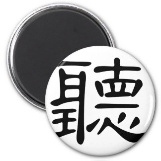 Chinese Character : ting, Meaning: audition, hear, Magnet