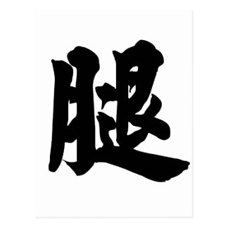 Chinese Character : tui, Meaning: leg Postcard