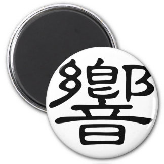 Chinese Character : xiang, Meaning: make sound, ma Magnet