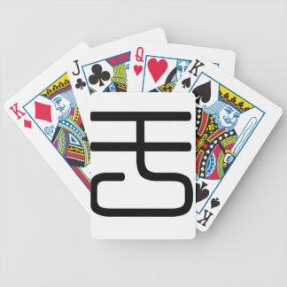 Chinese Character : yu2, Meaning: located Bicycle Playing Cards
