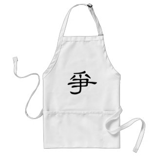 Chinese Character zheng Meaning fight struggl Aprons