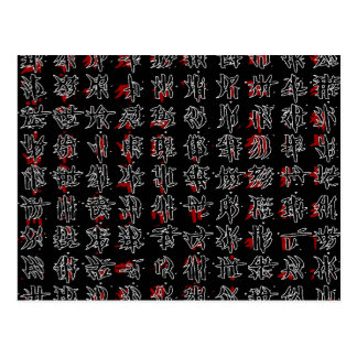 Chinese characters postcard