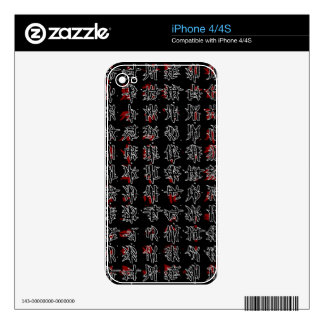 Chinese characters skin for iPhone 4