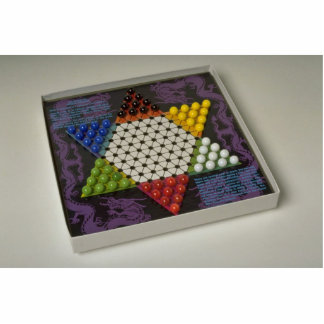 Chinese checkers puzzle game board standing photo sculpture