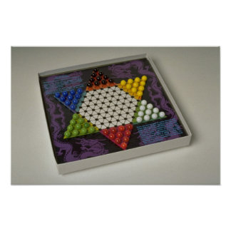 Chinese checkers puzzle game board print