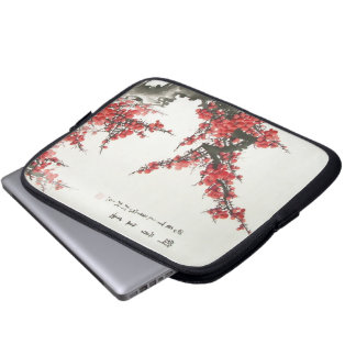 Chinese Cherry Blossom Laptop Computer Sleeve