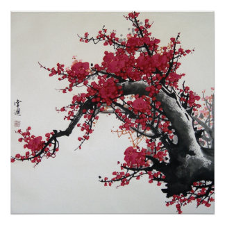 Chinese Cherry Blossom Poster