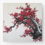 Chinese Cherry Blossom Wallclocks