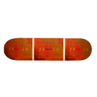 Chinese Chess  中國象棋 Skate board red gold