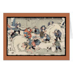 Chinese Children in the Snow Greeting Card