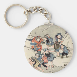 Chinese Children in the Snow Keychains