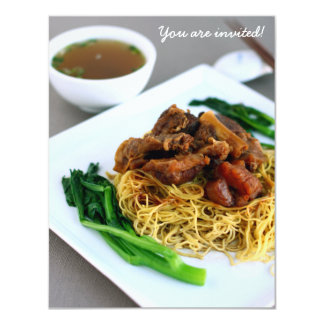 Chinese Chow Mein Collection Invitation