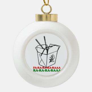 Chinese Christmas - Holiday Humor -.png Ceramic Ball Christmas Ornament