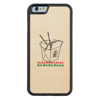 Chinese Christmas - Holiday Humor Carved® Maple iPhone 6 Bumper Case