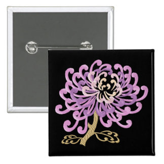 Chinese Chrysanthemum Embroidery-Style Button