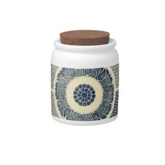 Chinese circle pattern candy jar
