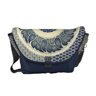 Chinese circle pattern medium messenger bag