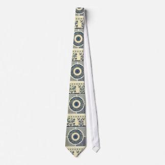Chinese circle pattern tie