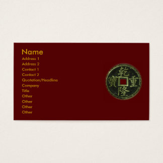 Chinese Coins Business Card
