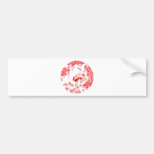 Chinese Crane Bumper Sticker