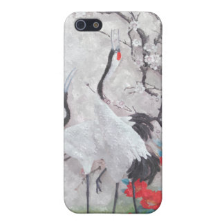 Chinese Crane with Peach Blossom iPhone SE/5/5s Cover