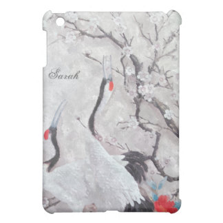 Chinese Cranes and Cherry Blossom oil Painting Case For The iPad Mini