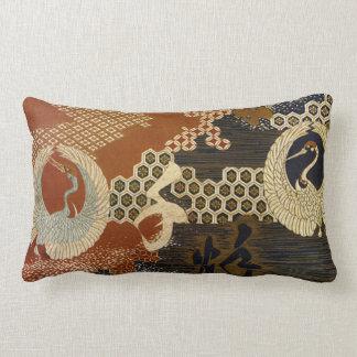 Chinese Cranes Lumbar Pillow