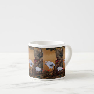Chinese Cranes Under a Pine Tree Espresso Cup