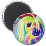 Chinese Crested #1 2 Inch Round Magnet