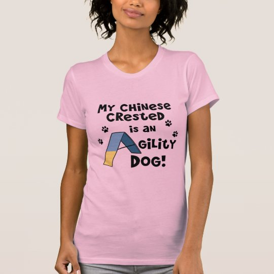 Chinese Crested Agility Dog Ladies T-Shirt