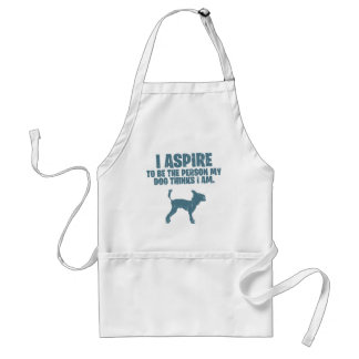 Chinese Crested Adult Apron