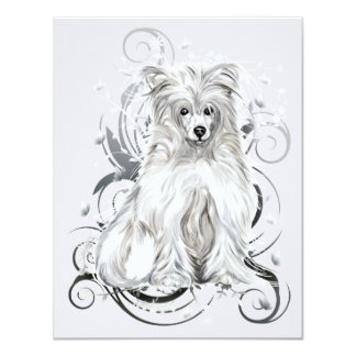 Chinese Crested Blue NB Card