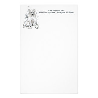 Chinese Crested Blue NB Personalized Stationery