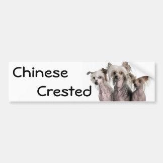 Chinese Crested Car Bumper Sticker