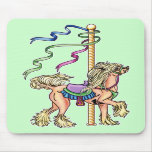 Chinese Crested Carousel Mouse Mat