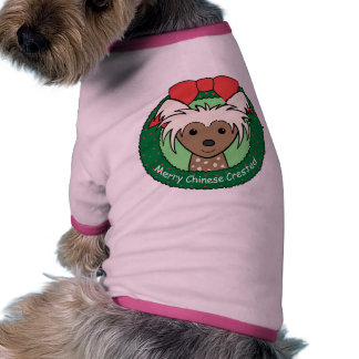 Chinese Crested Christmas Pet Tshirt